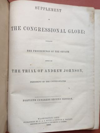 Supplement to The Congressional Globe: Containing the Proceedings of the...