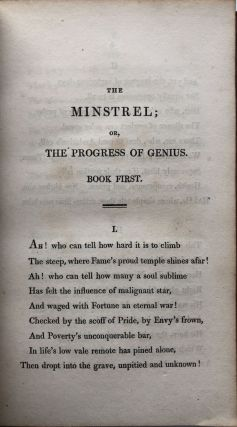 The Minstrel, or The Progress of Genius, with other poems