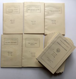 Excursions in the United States 1933: Guidebooks 1-12 and 13-30. Complete 2-box set