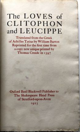 The Loves of Clitophon and Leucippe
