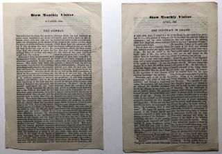 Stow Monthly Visitor, October 1846 & April 1847: The Orphan / The Contrast in Death. 19th Century...