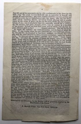 Stow Monthly Visitor, October 1846 & April 1847: The Orphan / The Contrast in Death