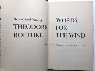 Words for the Wind, Collected Verse