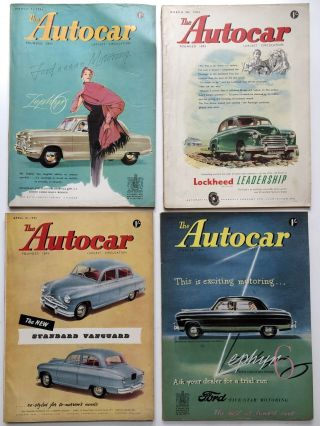 30 issues from 1953 of THE AUTOCAR English magazine