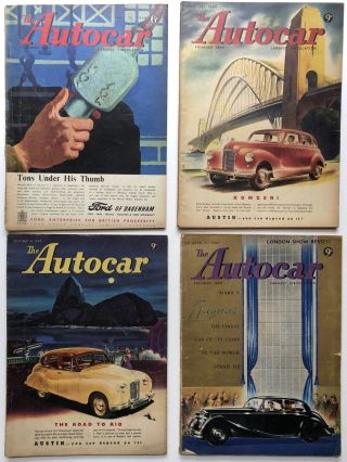 The Autocar (British magazine) 8 issues 1949-50