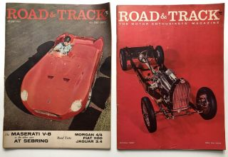 Road and Track magazine, 10 issues 1951-1961