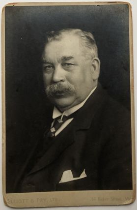 Ca. 1900 cabinet photo of John Hodge, British Labour leader and Steel Union leader