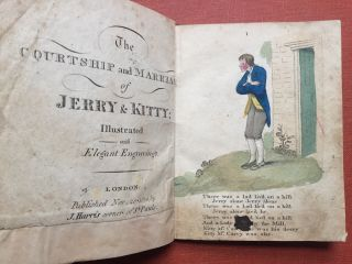 The Courtship and Marriage of Jerry & Kitty (1814) Illustrated...