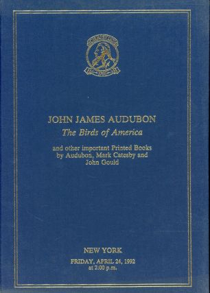 John James Audubon: The Birds of America and Other Important Printed Books by Audubon, Mark...