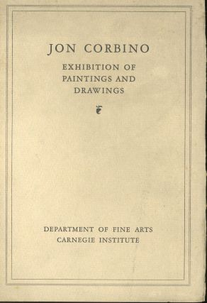 An Exhibition of Painting and Drawings. Jon Corbino