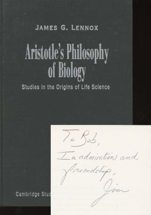 Aristotle's Philosophy of Biology: Studies in the Origins of Life...