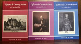Eighteenth-Century Ireland / Iris An Da Chultur, 19 Vols, incomplete; Vol.11 (1996) - Vol. 30 (2015); lacks Vol. 19 (2004)