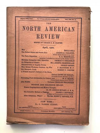 The North American Review, April 1900. George Moore Emile Zola, Charles Waldstein