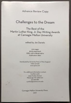 Challenges to the Dream: the bet of the Martin Luther King, Jr. Day Writing Awards at Carnegie...