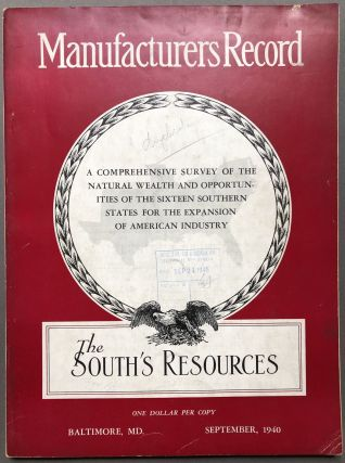 Manufacturers Record, September 1940: The South's Resources