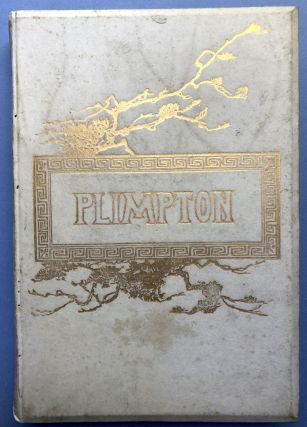 Poems of Florus B. Plimpton -- family copy in full vellum, with two original floral paintings by Cordelia Plimpton