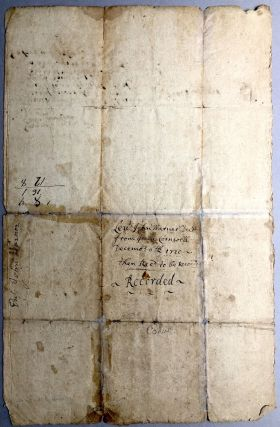1720 deed for land in Middletown, Connecticut between Isaac Cornwell and Lieut. John Warner