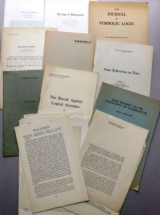 Group of 41 offprints of articles and reviews on philosophy, syntax, ontology, logic, logical positivism from the collection of Wilfrid Sellars