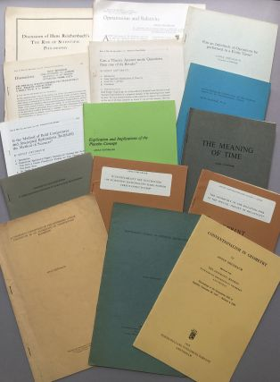 Group of 40 offprints of articles, book reviews and essays on philosophy, philosophy of science, logic, space, time, geometry, Zeno, etc., from the collection of colleague Wilfrid Sellars