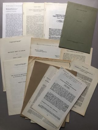 Group of 30 offprints of reviews and articles on philosophy, philosophy of science, logic, etc., from the collection of Wilfrid Sellars