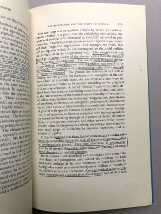 Psychoanalysis and the Unity of Science -- from the collection of Wilfrid Sellars
