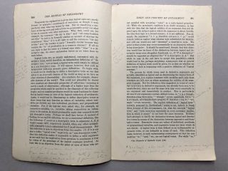 Logic and the Concept of Entailment, annotated in pencil by Wilfrid Sellars, in The Journal of Philosophy, June 22, 1950
