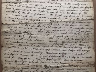 """Ca. 1829-30 draft of a speech before the PA legislature on the question of whether the United States was justified in """"removing the Indians west of the MIssissippi."""""""