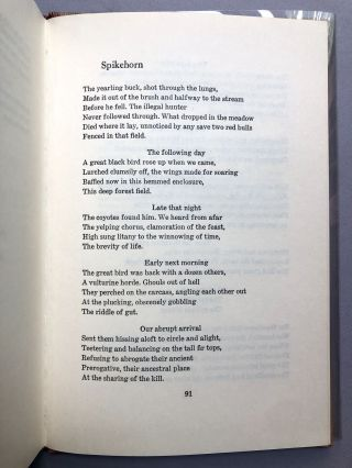The Masks of Drought - one of fifty signed with holograph poem