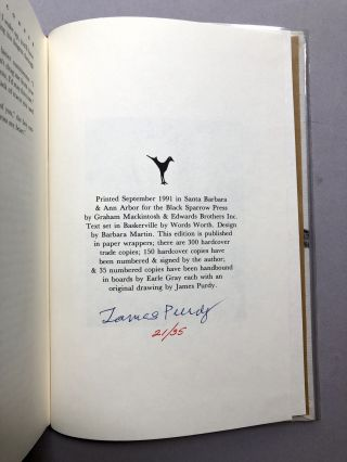 63: Dream Palace. Selected Stories 1956-1987 - one of 35 signed with original drawing