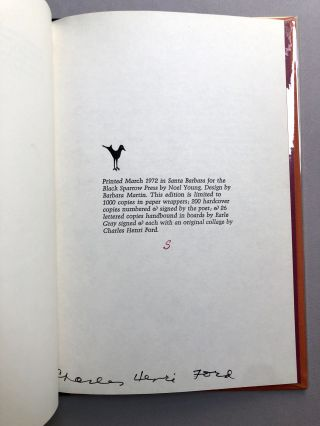 Flag of Ecstasy, Selected Poems - one of 26 signed with original collage