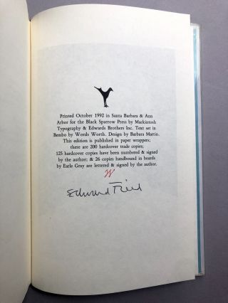 Counting Myself Lucky: Selected Poems, 1963-1992 -- one of 26 lettered signed copies