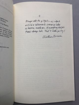 Birth of a Poet, the Santa Cruz Meditations, one of fifty signed copies with holograph poem
