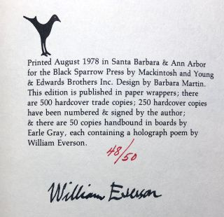 The Veritable Years, 1949-1966 -- one of 50 signed copies with holograph poem