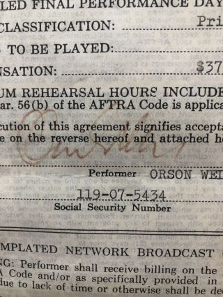 """Document Signed, 1976: Aftra Engagement Contact with CBS, for an episode of """"Dinah!"""""""
