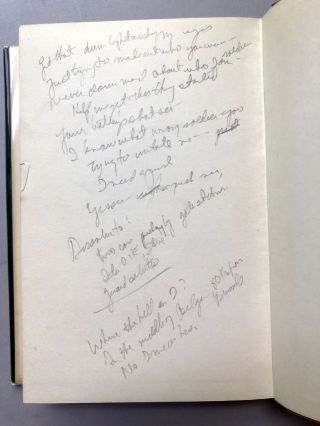 In the Spring the War Ended -- screenwriter William Goldman's copy with his notes and marks (he adapted the novel into a screenplay)