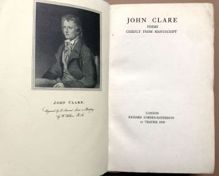 Poems Chiefly from Manuscript -- Clare scholar Eric Robinson's copy