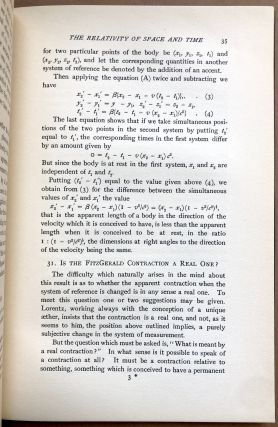 Relativity and the Electron Theory