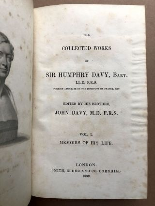 The Collected Works of Sir Humphry Davy, 9 volumes