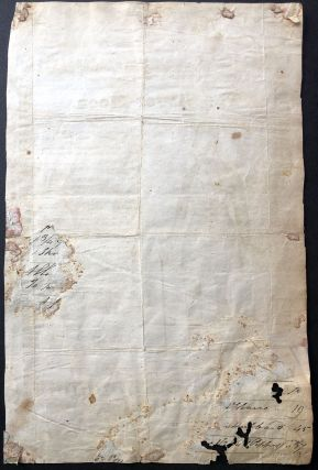 The Silver Moon - rare American song sheet from 1849