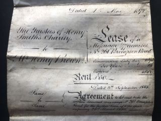 Group of important documents relating to W. & H. Brown, printers, engravers and lithographers, 261 Brompton Rd., Kensington, London