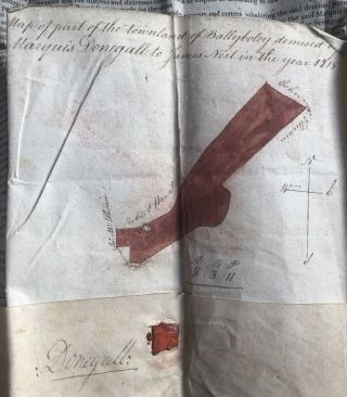 1777 and 1816 indentures for grazing rights and farm rental for land in Ballyboley, Country Antrim, Ireland, one signed by George Augustus Chichester, 2nd Marquess of Donegall