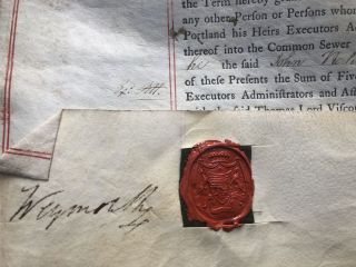 1775 rental agreement for property at Portland Place, London, signed by the architects and builder, et al.