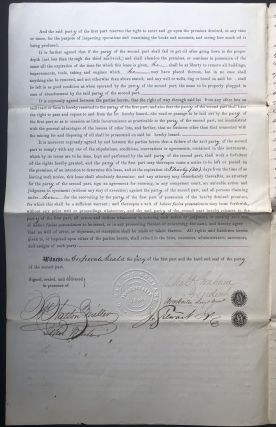 1865 lease agreement for land in oil country, Cherrytree Township, Venango County Pennsylvania, for the purposes of mining, digging and boring for oil