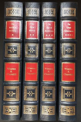 The History of the English-Speaking Peoples, 4 vols., Easton Press full leather: The Birth of Britain, The New Worldm The Age of Revolution, The Great Democracies