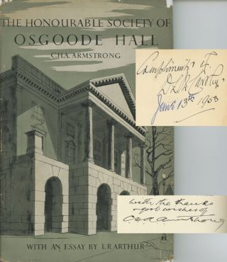 The Honourable Society Of Osgoode Hall; with an appendix on...