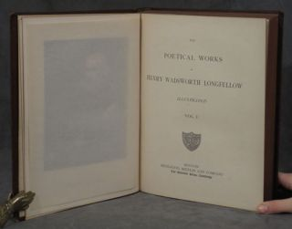 Longfellow's Poems; The Poetical Works of Henry Wadsworth Longfellow, illustrated, 3 volumes total, including Vol. 1, Vol. 2, and Vol. 3 (The Complete Prose Works of Henry Wadsworth Longfellow, with His Later Poems, with a Biographical Sketch by Octavius B. Frothingham)