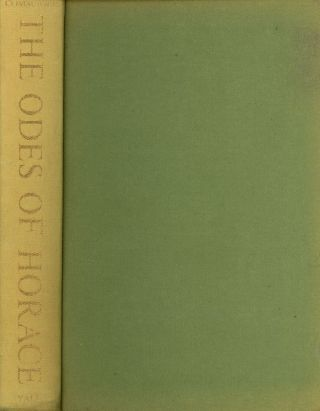 The Odes of Horace, A Critical Study