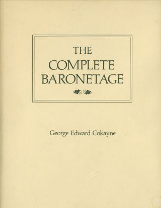 The Complete Baronetage