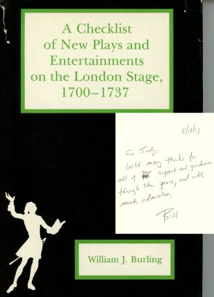 A Checklist of New Plays: And Entertainments on the London...