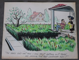 Original Cartoons by Professional Cartoonist and Illustrator John Lawrence 'Larry'...